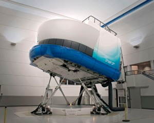 787 Simulator - Exterior View K65021
